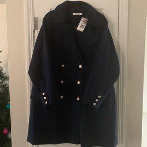 Just Fab Navy Blue Peacoat 3X